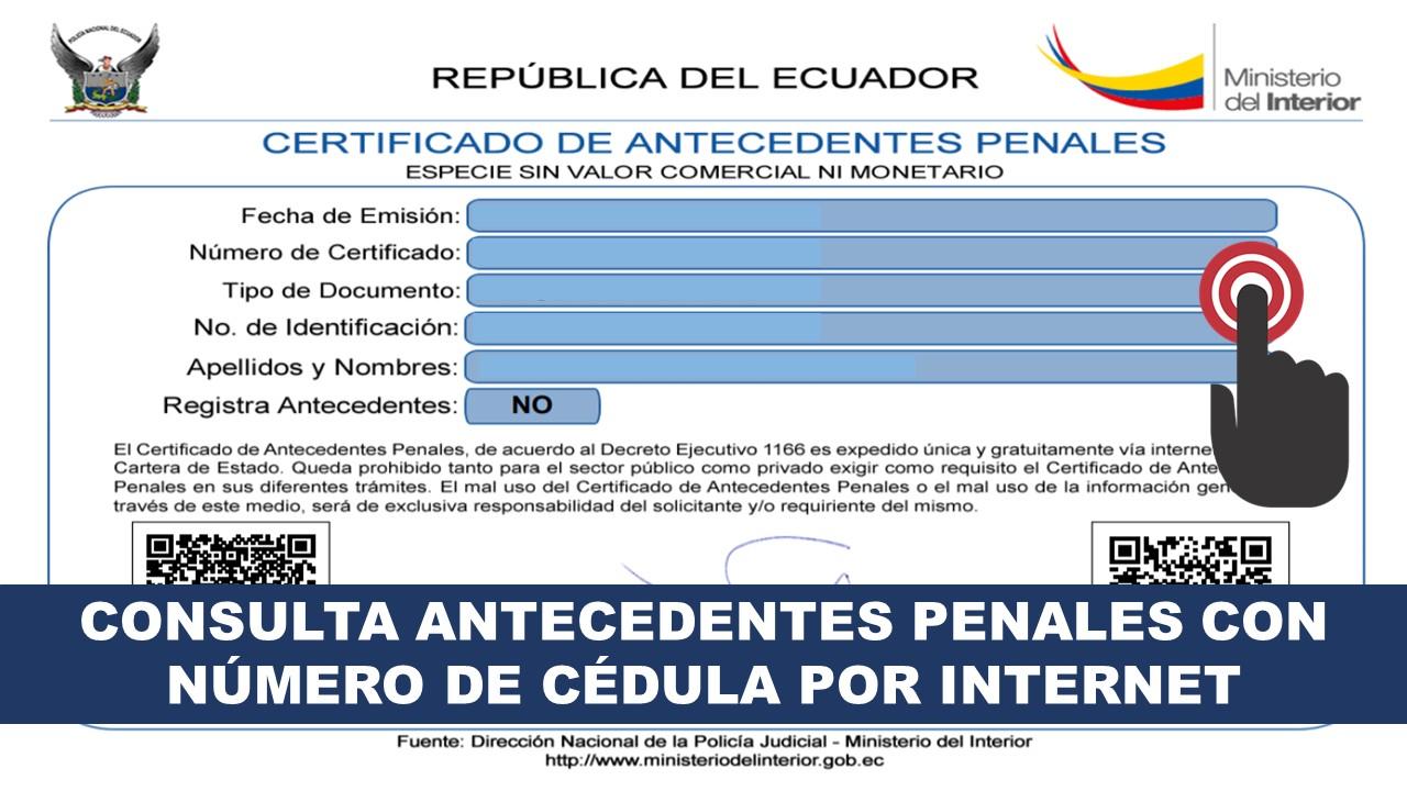 Consulta Antecedentes Penales con Número de Cédula por Internet