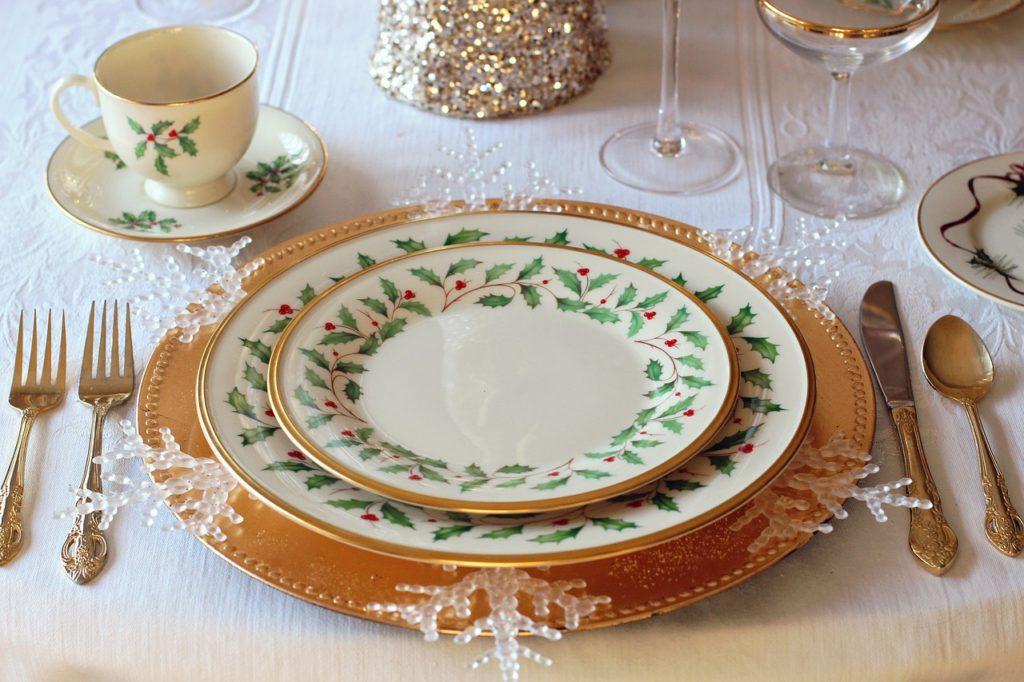 mesa navideña mesa