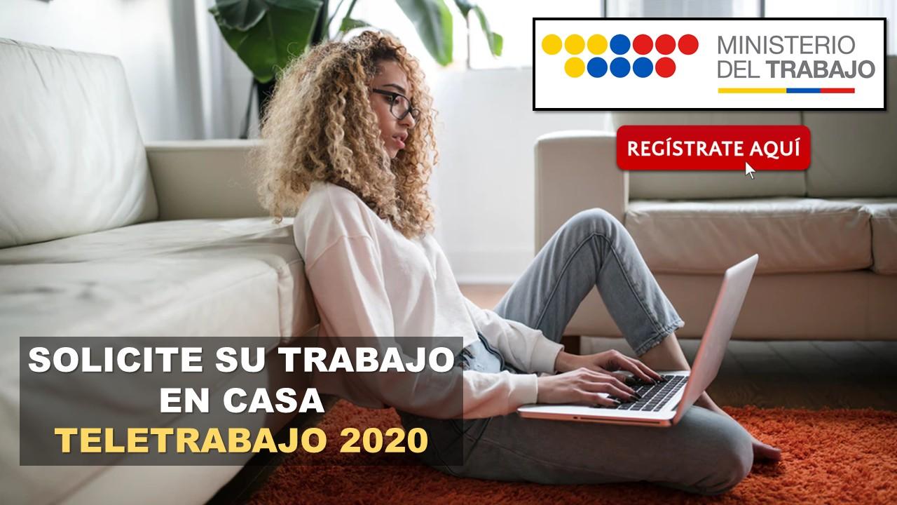 Solicite su Trabajo en Casa del Ministerio de Trabajo 2020
