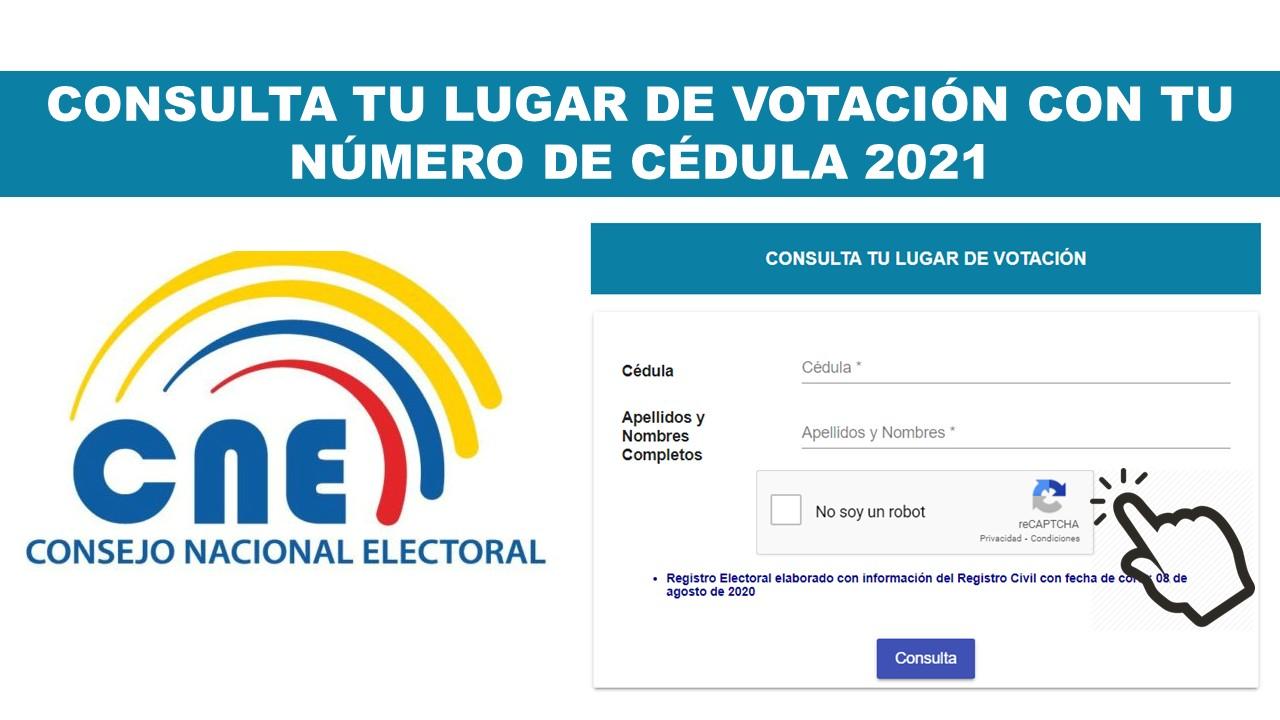Consulta tu Lugar de Votación con tu Número de Cédula 2021