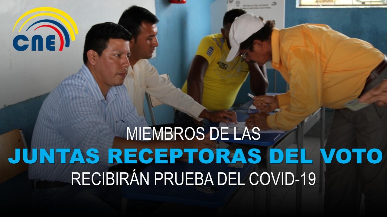 Miembros de las Juntas Receptoras del Voto recibirán prueba del Covid-19