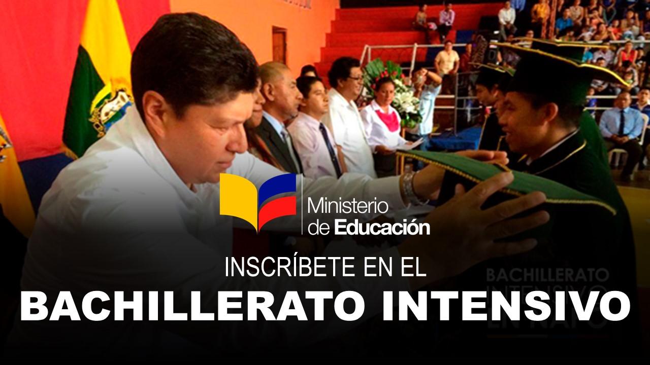 Inscríbete en el Bachillerato Intensivo del Ministerio de Educación