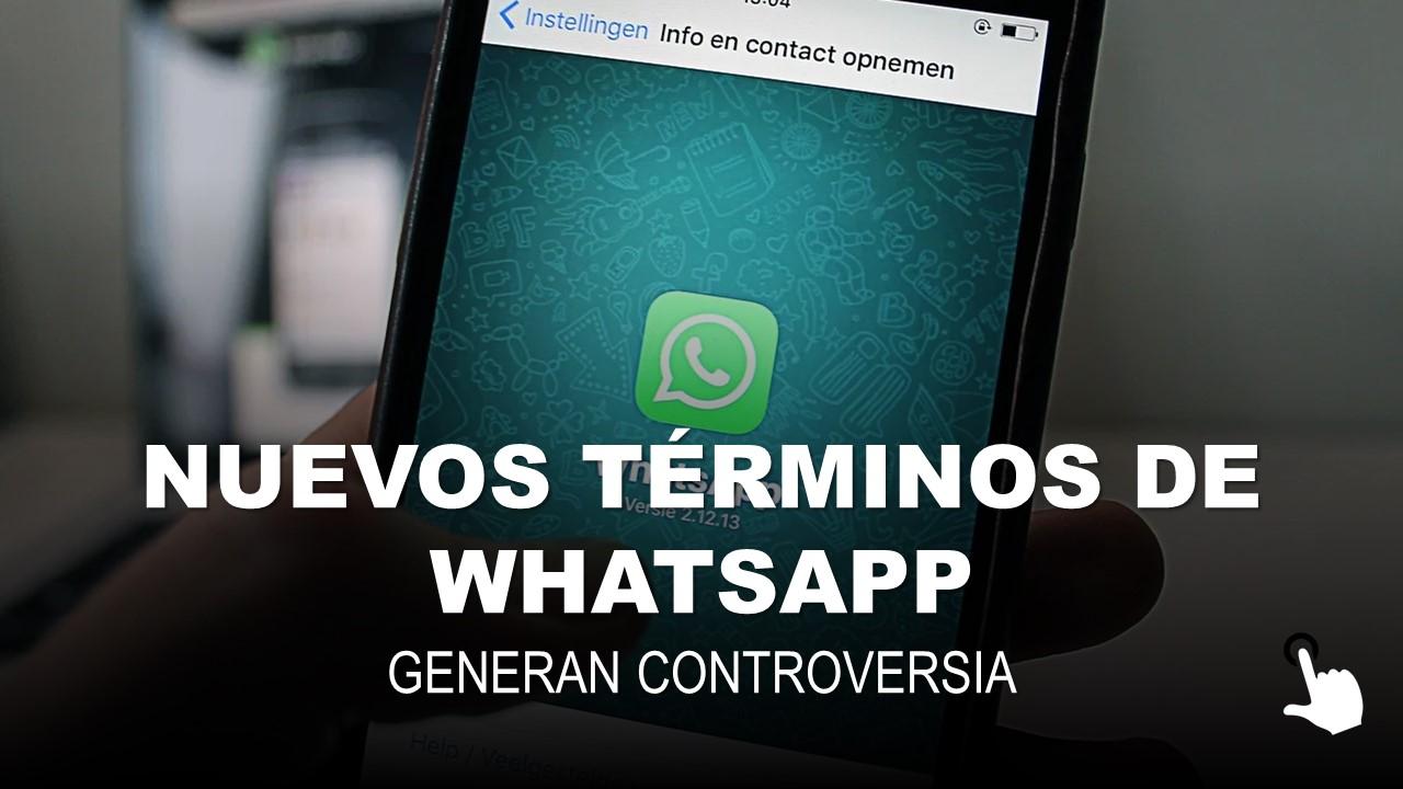Nuevos Términos de Whatsapp Generan Controversia